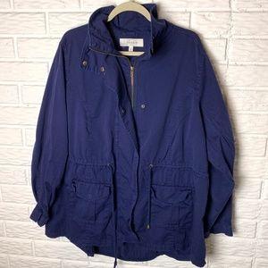 Torrid Jacket Size 3 3X Cinch Waist Utility Navy